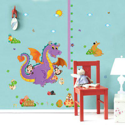 Cute Kindergarten Children Room Decoration Cartoon Dinosaur Height Wall Stickers super cute plush toy dog doll as a christmas gift for children s home decoration 20