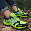 Men Outdoor Shoes Hiking Jogging Athletic Running Breathable Sport Sneakers - CHARTREUSE