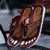 ZEACAVA Men Sandals Summer Outdoor Beach Flip Flops High Quality Casual Slippers - BROWN