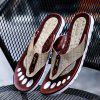 ZEACAVA Men Sandals Summer Outdoor Beach Flip Flops High Quality Casual Slippers - LIGHT KHAKI
