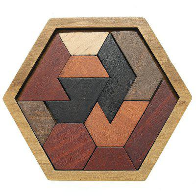 Puzzle kreatywne Drewniane Tangram Jigsaw Board Geometric Shape Kid Educational Toy