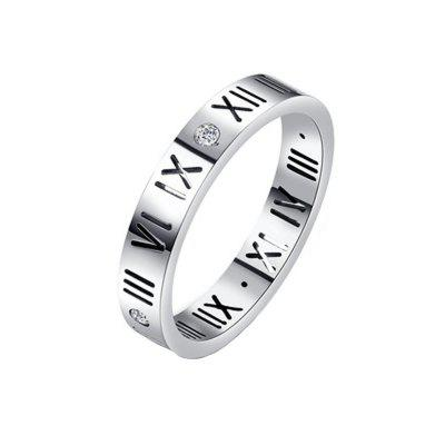 Fashion Delicate Roman Numerals Rings for Women and Men Couple Wedding Rings