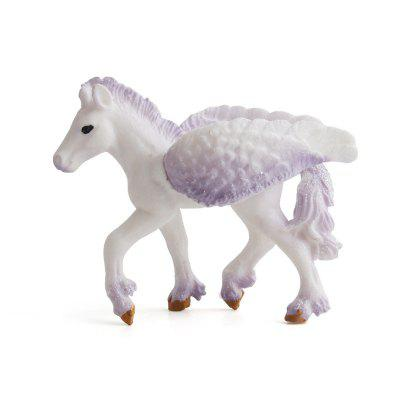 Fiaba animale Big Unicorn Flying Horse Figure Model Wild Figurine Giocattolo per bambini
