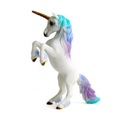 Luxury Fairy Tale Animal Big Unicorn Flying Horse Figure Model Wild Figurine Kid