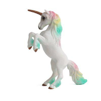 Di lusso Fiaba animale Big Unicorn Flying Horse Figure Model Wild Figurine Kid