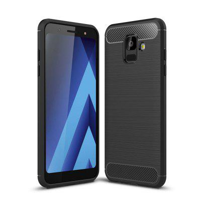 Case for Samsung Galaxy A6 2018 Shockproof Back Cover Soft Carbon Fiber