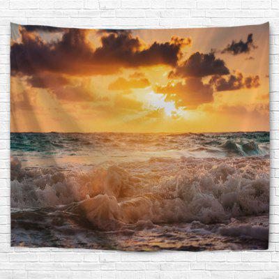 Sunset The Waves 3D Printing Home Wall Hanging Tapestry for Decoration