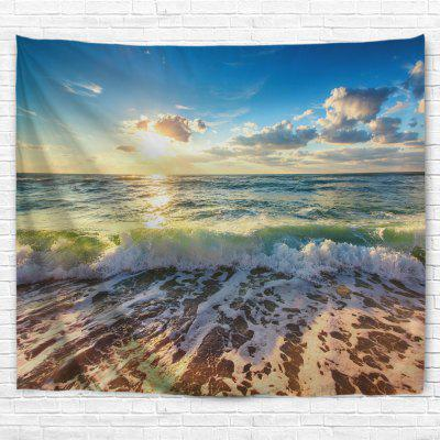 Waves Blue Sky 3D Printing Home Wall Hanging Tapestry for Decoration