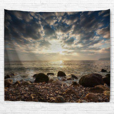 Rocky Beach 3D Printing Home Wall Hanging Tapestry for Decoration