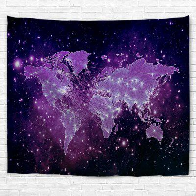 Purple Sky Map 3D Printing Home Wall Hanging Tapestry for Decoration