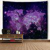 Purple Sky Map 3D Printing Home Wall Hanging Tapestry for Decoration - MULTI-A