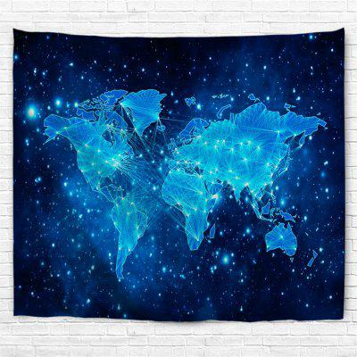 Blue Sky Map 3D Printing Home Wall Hanging Tapestry for Decoration