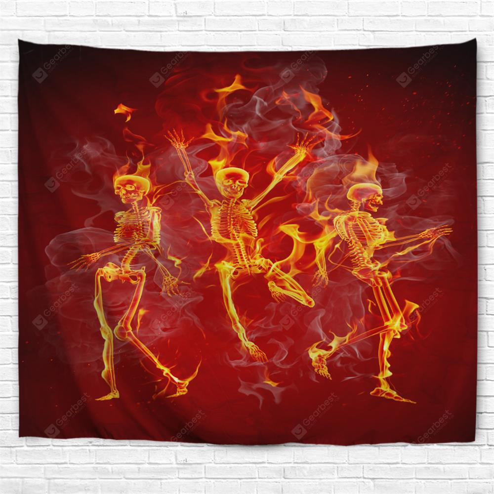 Dancing Skeleton 3D Printing Home Wall Hanging Tapestry for Decoration