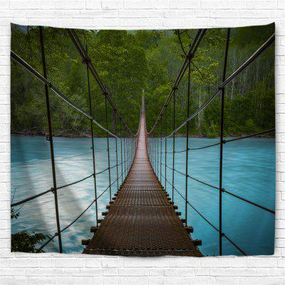 Forest Suspension Bridge 3D Printing Home Wall Hanging Tapestry for Decoration