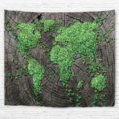 Plants Map 3D Printing Home Wall Hanging Tapestry for Decoration