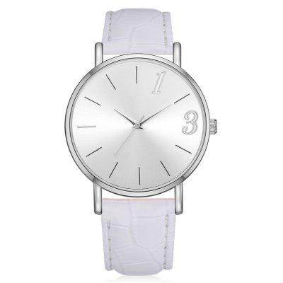 Lvpai P313 Mulheres Decorativas PU Leather Band Quartz Watch