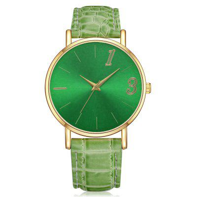 Lvpai P314 Women Gold Case PU Leather Wrist Watch