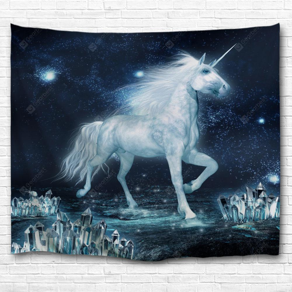 The Unicorn on The Ice 3D Printing Home Wall Hanging Tapestry for Decoration