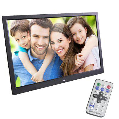 15 Inch Digital Photo Frame LED Backlight HD 1280 x 800 Electronic Album EU Plug
