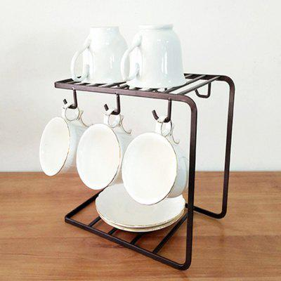 Stainless Steel Coffee Cup Rack Shelf Stand Kitchen Tool