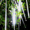OMTO Waterproof  8 Tube Holiday Meteor Shower Rain LED String Lights - BIANCA