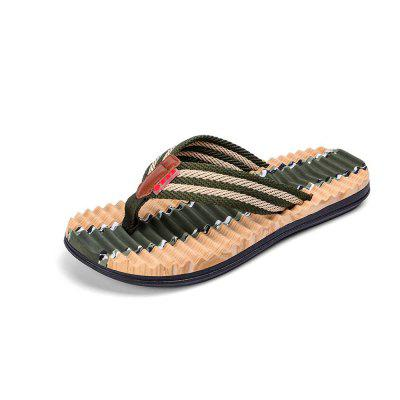 Men Striped Flip-Flop Summer Camouflage Slippers Shoes break fashionable silicone band quartz movement men watch with box