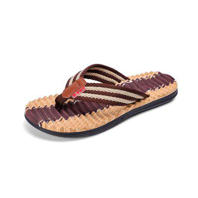 Men Striped Flip-Flop Summer Camouflage Slippers Shoes century cool sites trendy leisure sneakers for men