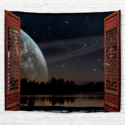 Moon Outside The Window 3D Printing Home Wall Hanging Tapestry for Decoration