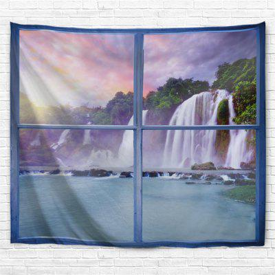Blue Window Waterfall 3D Printing Home Wall Hanging Tapestry for Decoration