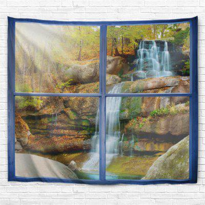 Window Stone Waterfall 3D Printing Home Wall Hanging Tapestry for Decoration