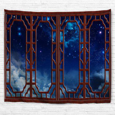 Redwood Window Starry Sky 3D Printing Home Wall Hanging Tapestry for Decoration
