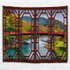 Red Window Longbridge 3D Printing Home Wall Hanging Tapestry for Decoration - MULTI-A