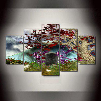 Fantasy Frameless Printed Canvas Art Print 5PCS world map frameless printed canvas wall art paintings 5pcs