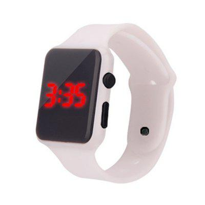 New Fashion Personality Candy Color LED Mirror Silicone Watch for Student