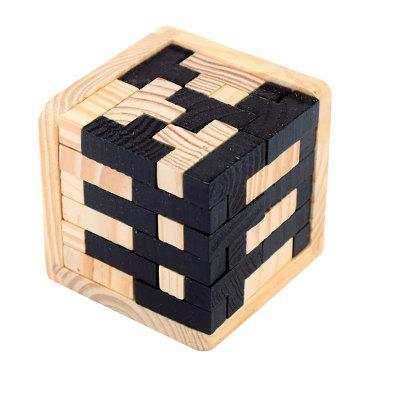 3d Wooden Puzzles Brain Teaser 54 T-Shaped Tetris Blocks Geometric Toy