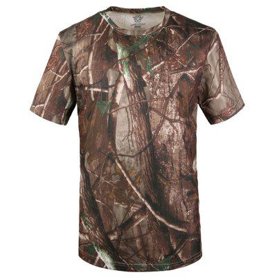Men's Short-sleeved Python Pattern Camouflage Breathable Quick-drying T-shirt