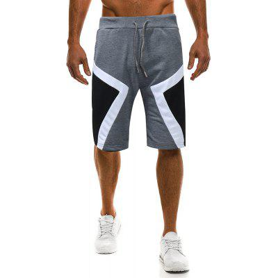 Men's Fashion Personality Geometric Color Casual Shorts