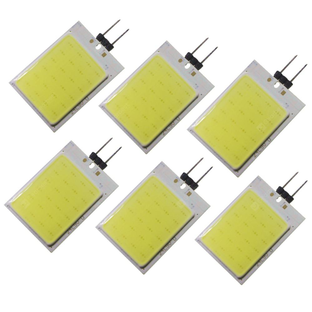 SENCART 5W 6PCS G4 LED Bi-pin Lights 24 COB Decorative Cold White 12V