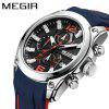 MEGIR 2063 Men Quartz Watch with Calendar Function - WHITE