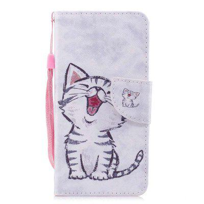Case for Wiko View Prime Red-billed Cat Painted PU Leather