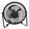 4 Inch USB Aluminum Mini Electric Fan - BLACK