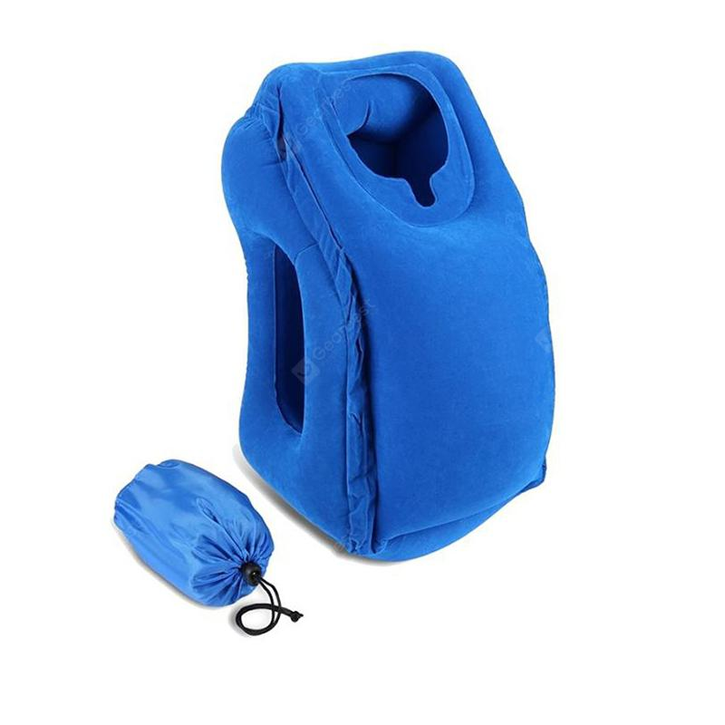 Foldable Travel Pillow Inflatable Air Soft Cushion Trip Portable Neck Support