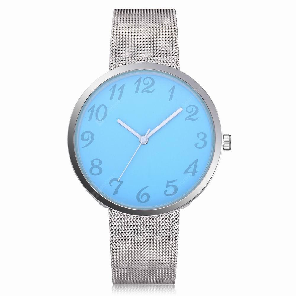 Lvpai P400 Women's Mesh Alloy Band Analog Quartz Wrist Watch