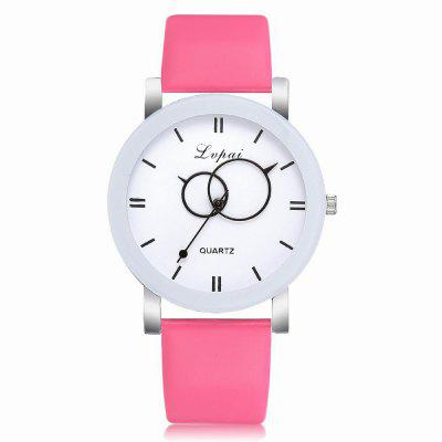 Lvpai P403 Women's Pu Strap Analog Quartz Wrist Watch