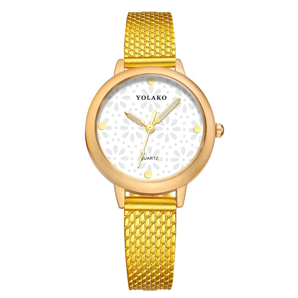 Fashion Women's Simple Casual Colorful Leather Dress Watch