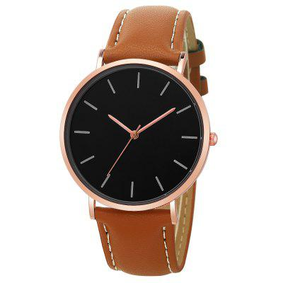 Moda męska Casual Leather Quartz Sport Watch