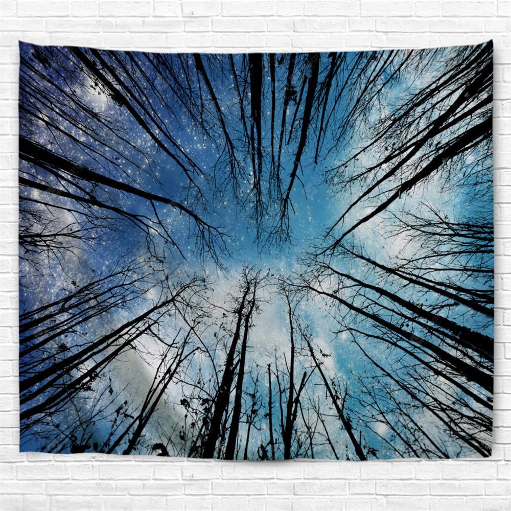 A Forest 3D Printing Home Wall Hanging Tapestry for Decoration