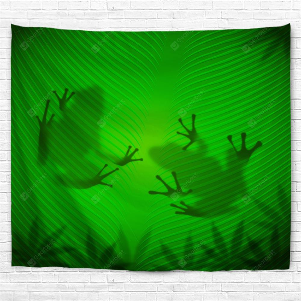 Leaf Frog Shadow 3D Printing Home Wall Hanging Tapestry for Decoration