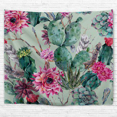 Floral Cactus 3D Printing Home Wall Hanging Tapestry for Decoration