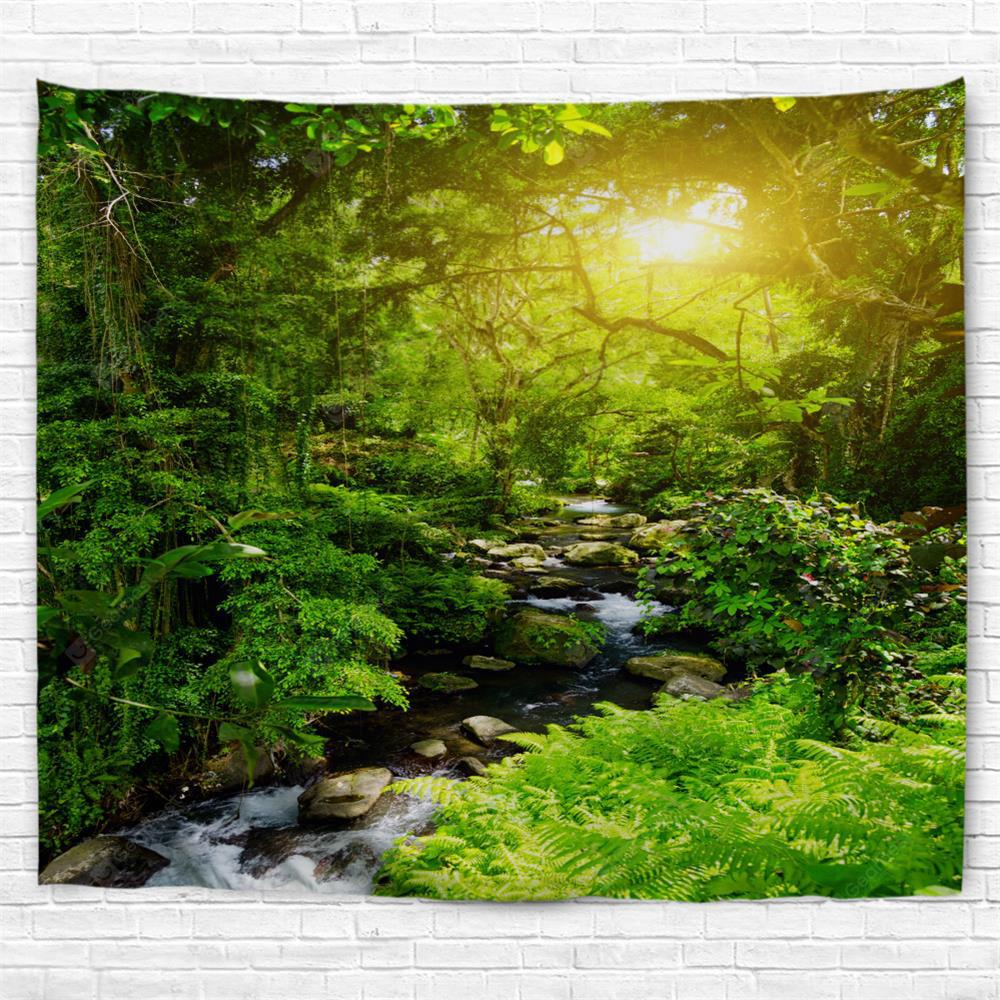 Forest Creek  3D Printing Home Wall Hanging Tapestry for Decoration
